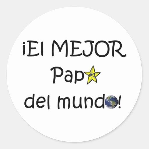 ¡Feliz día del padre - eres el mejor! Classic Round Sticker