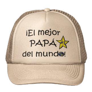 ¡¡Feliz día del padre - mejor del EL de para! Gorro De Camionero