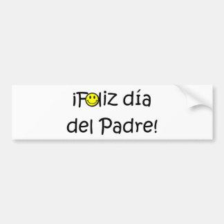 ¡¡Feliz día del padre - mejor del EL de para! Pegatina Para Auto
