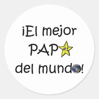 ¡¡Feliz día del padre - mejor del EL de para! Pegatina Redonda