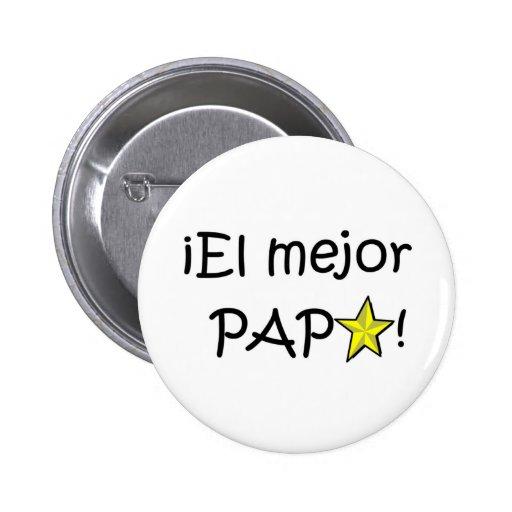¡¡Feliz día del padre - mejor del EL de para! Pin Redondo 5 Cm