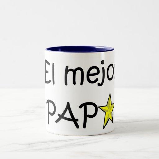 ¡¡Feliz día del padre - mejor del EL de para! Taza De Café
