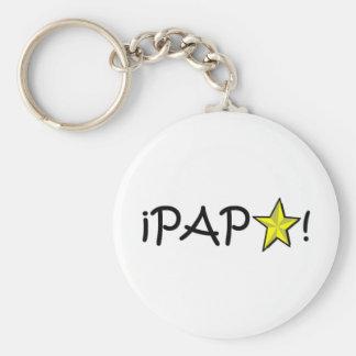 ¡Feliz día del padre - para el mejor! Basic Round Button Keychain