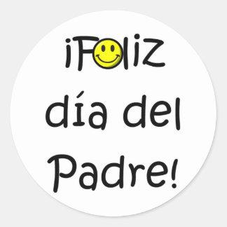¡Feliz día del padre - para el mejor! Classic Round Sticker