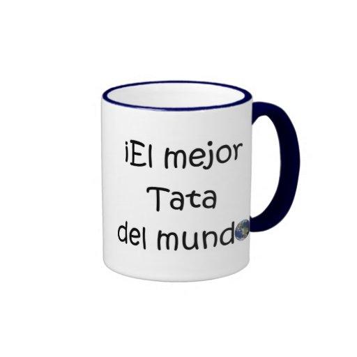 ¡Feliz día del padre - para el mejor! Ringer Coffee Mug