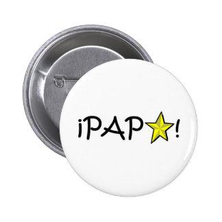 ¡Feliz día del padre - para el mejor! Pinback Button