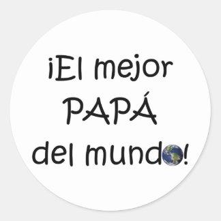 ¡Feliz día del padre - para el mejor! Round Sticker