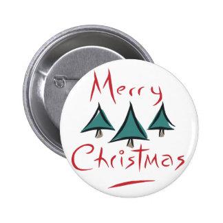 Feliz Doodle del árbol de navidad Pin