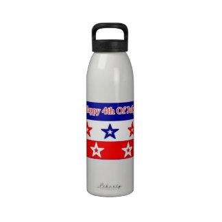 feliz el 4 de julio botella de beber