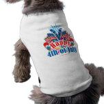 Feliz el 4 de julio camisa de mascota