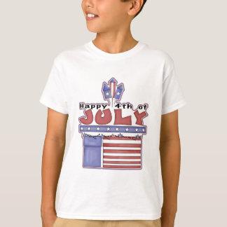 Feliz el 4 de julio - camiseta de los niños camisas