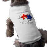 Feliz el 4 de julio camiseta de perro