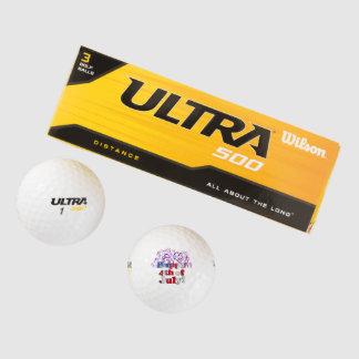 Feliz el 4 de julio con los fuegos artificiales pack de pelotas de golf