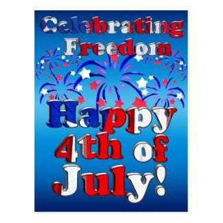 Feliz el 4 de julio con los fuegos artificiales