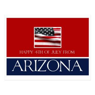 feliz el 4 de julio de Arizona Tarjetas Postales
