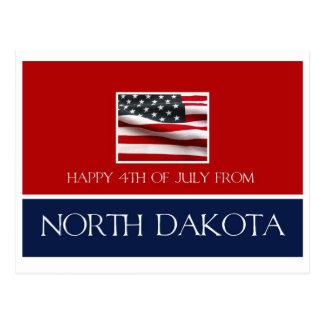 feliz el 4 de julio de Dakota del Norte Postales