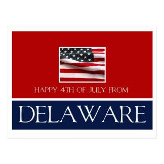 feliz el 4 de julio de Delaware Postal
