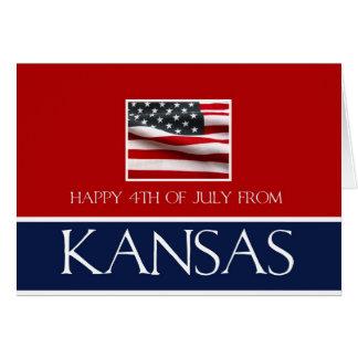 feliz el 4 de julio de Kansas Tarjeta De Felicitación