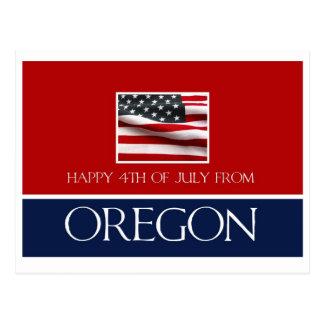 feliz el 4 de julio de Oregon Postal