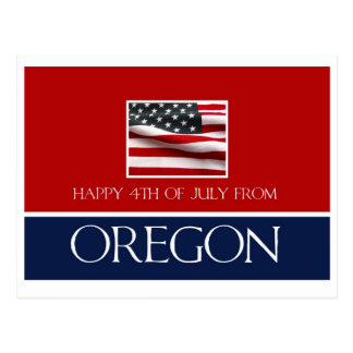 feliz el 4 de julio de Oregon Postales