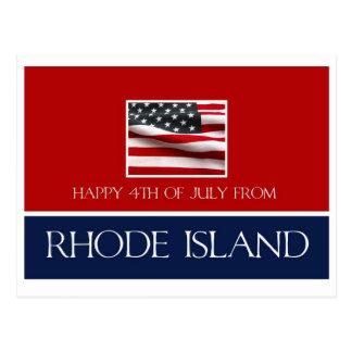 feliz el 4 de julio de Rhode Island Tarjeta Postal