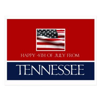 feliz el 4 de julio de Tennessee Postales