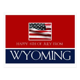 feliz el 4 de julio de Wyoming Tarjeta Postal