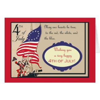 Feliz el 4 de julio, Día de la Independencia del Tarjeta De Felicitación
