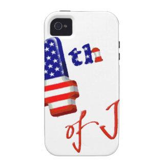 Feliz el 4 de julio, Día de la Independencia feliz iPhone 4/4S Carcasa