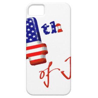 Feliz el 4 de julio, Día de la Independencia feliz iPhone 5 Case-Mate Cárcasa