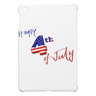 Feliz el 4 de julio, Día de la Independencia feliz iPad Mini Coberturas