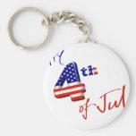 Feliz el 4 de julio, Día de la Independencia feliz Llaveros