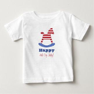 Feliz el 4 de julio embroma la camiseta