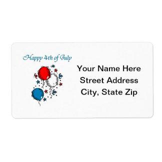 Feliz el 4 de julio etiqueta de envío