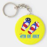 Feliz el 4 de julio - flip-flop llavero