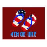 Feliz el 4 de julio - flip-flop postal