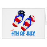 Feliz el 4 de julio - flip-flop tarjeta de felicitación