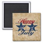 Feliz el 4 de julio imanes para frigoríficos