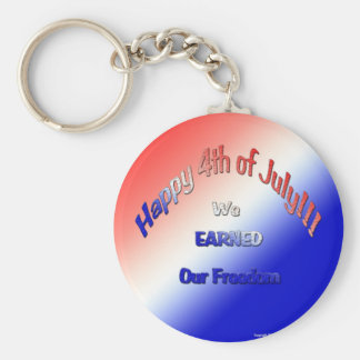 ¡Feliz el 4 de julio!!! Llavero Redondo Tipo Pin