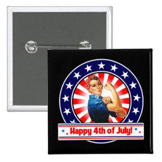 Feliz el 4 de julio los E E U U patrióticos Rosie Pins