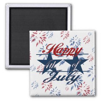 Feliz el 4 de julio imán para frigorifico