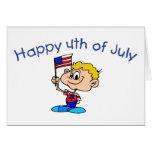 Feliz el 4 de julio (muchacho) tarjetas