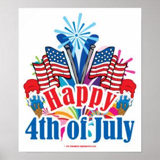 Feliz el 4 de julio impresiones