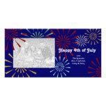 Feliz el 4 de julio Photocards Plantilla Para Tarjeta De Foto