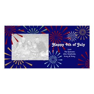 Feliz el 4 de julio Photocards Tarjeta Personal