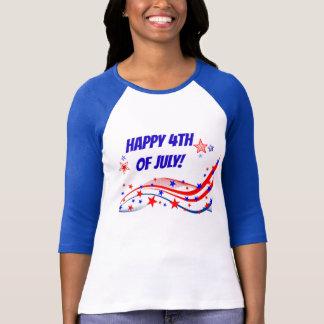 Feliz el 4 de julio playera