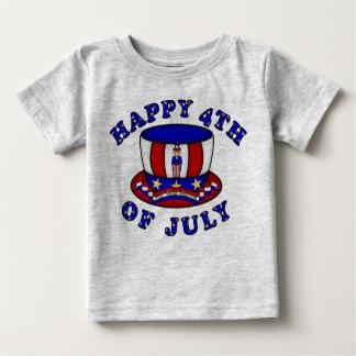 Feliz el 4 de julio playera de bebé