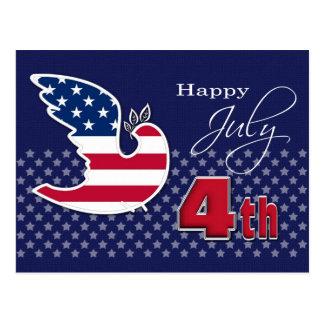 Feliz el 4 de julio Postal adaptable