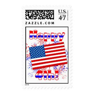 Feliz el 4 de julio sello postal