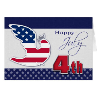 Feliz el 4 de julio. Tarjeta de felicitación